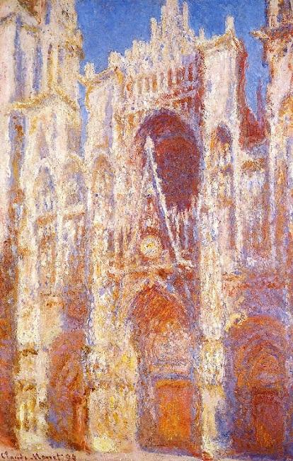 「ルーアン大聖堂:扉口、昼下り」(1893年)クロード・モネ