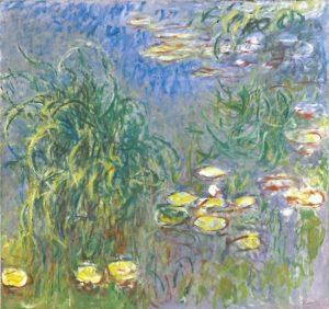 「睡蓮 - 草の茂み」(1914‐1917年)クロード・モネ