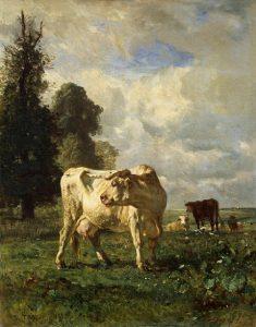 「草地の牛」(1852年)コンスタン・トロワイヨン