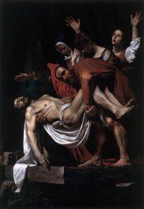 「キリストの埋葬」(1602年)ミケランジェロ・メリージ・ダ・カラヴァッジョ