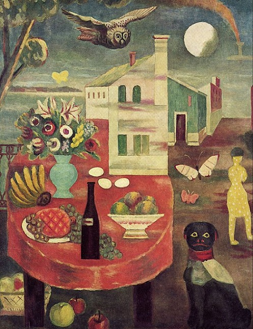 「素朴な月夜」(1929年)古賀春江