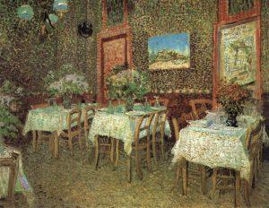 「レストランの内部」(1887年夏)フィンセント・ファン・ゴッホ