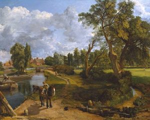「フラットフォードの製粉所(航行可能な川の情景)」(1816-17年)ジョン・コンスタブル