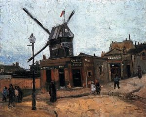 「ムーラン・ド・ラ・ギャレット」(1886年)フィンセント・ファン・ゴッホ
