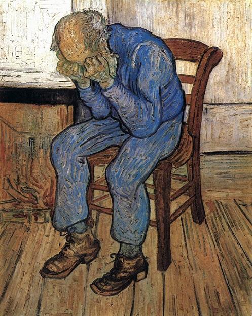 「悲しむ老人(永遠の門)」(1890年)フィンセント・ファン・ゴッホ