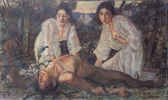 「大穴牟知命」(1905年)青木繁