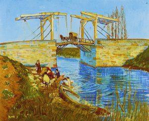 「アルルの跳ね橋」(1888年)フィンセント・ファン・ゴッホ