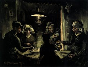 「ジャガイモを食べる人々」(1885年)フィンセント・ファン・ゴッホ