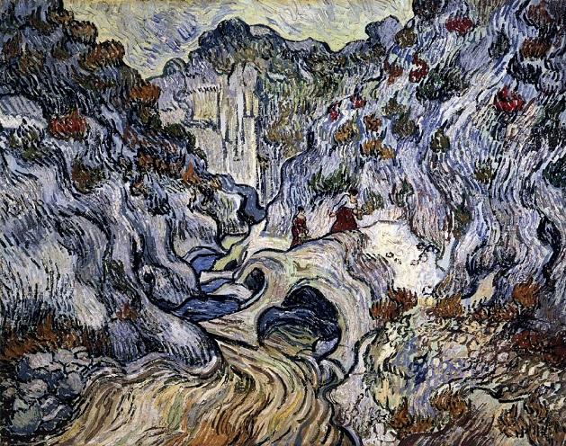 「渓谷」(1889年12月)フィンセント・ファン・ゴッホ
