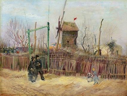 「モンマルトル通りの光景」(1887年)フィンセント・ファン・ゴッホ