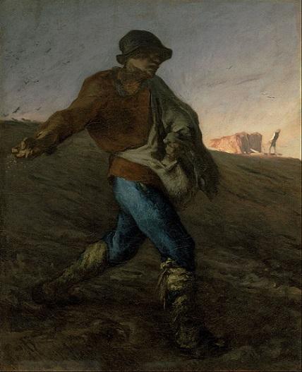 「種まく人」(1850年)ジャン=フランソワ・ミレー
