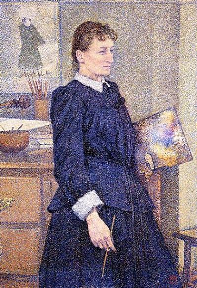 「アトリエのアンナ・ボック」(1893年)テオ・ヴァン・ライセルベルヒ