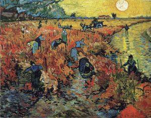 「赤い葡萄畑」(1888年11月)フィンセント・ファン・ゴッホ