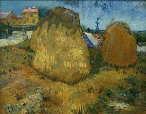 「プロヴァンスの干し草の山」(1888年)フィンセント・ファン・ゴッホ