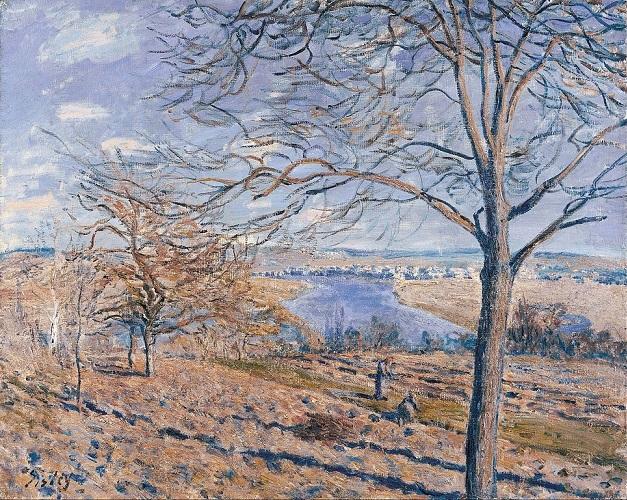 「ロワン川のほとり、秋の効果」(1881年)アルフレッド・シスレー