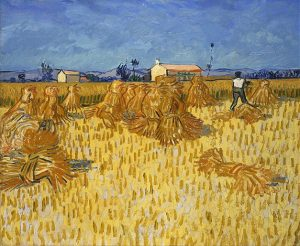 「プロヴァンスのトウモロコシの収穫」(1888年)フィンセント・ファン・ゴッホ