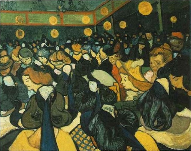 「アルルのダンスホール」(1888年)フィンセント・ファン・ゴッホ