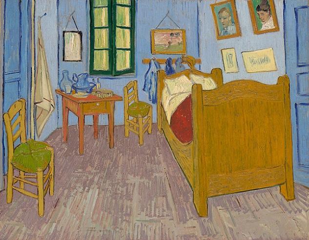 「ファン・ゴッホの寝室」(1889年)フィンセント・ファン・ゴッホ