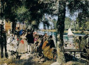 「ラ・グルヌイエール」(1869年)ピエール=オーギュスト・ルノワール
