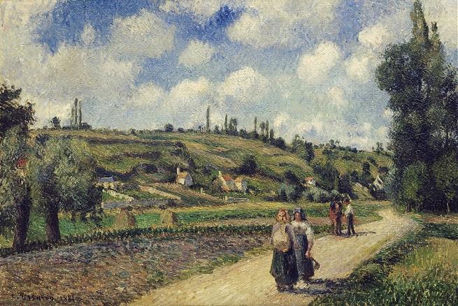 「オーヴェル通り、ポントワーズ近くの景色」(1881年)カミーユ・ピサロ