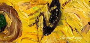 絵具の盛りと筆の跡