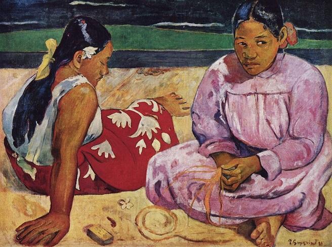 「タヒチの女たち」(1891年)ポール・ゴーギャン
