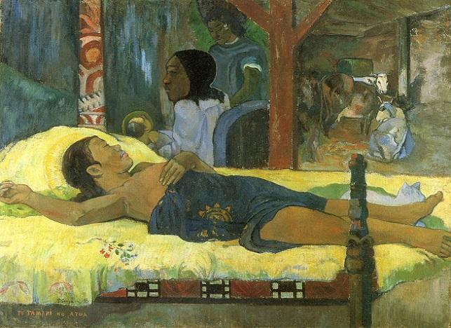 「神の子の誕生(テ・タマリ・ノ・アトゥア)」(1896年)ポール・ゴーギャン