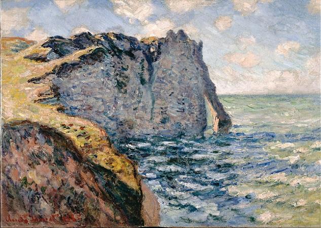 「エトルタ、アヴァルの崖」(1885年)クロード・モネ