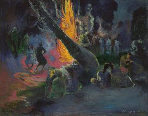 「ウパウパ(ファイアー・ダンス)」(1891年)ポール・ゴーギャン