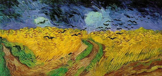 「烏(カラス)のいる麦畑」(1890年)フィンセント・ファン・ゴッホ