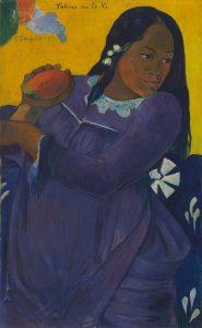 「マンゴーを持つ女(ヴィヒネ・ノ・テ・ヴィ)」(1892年)ポール・ゴーギャン