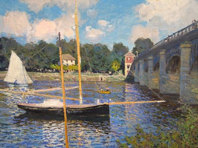 「アルジャントゥイユの橋」(1874年)クロード・モネ
