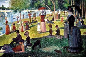 「グランド・ジャット島の日曜日の午後」(1884‐86年)ジョルジュ・ルーラ