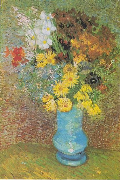 「青い花瓶の花」(1887年6月頃)フィンセント・ファン・ゴッホ