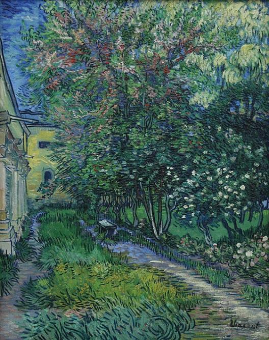 「サン=レミの療養院の庭」(1889年5月)フィンセント・ファン・ゴッホ