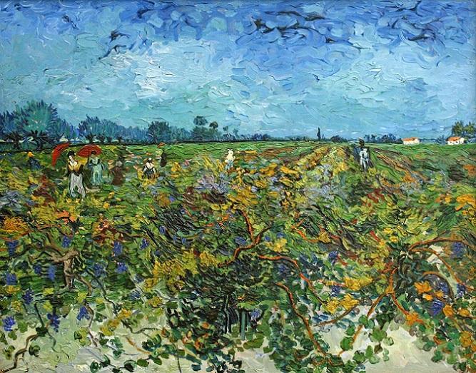 「緑のブドウ園」(1888年10月3日)フィンセント・ファン・ゴッホ