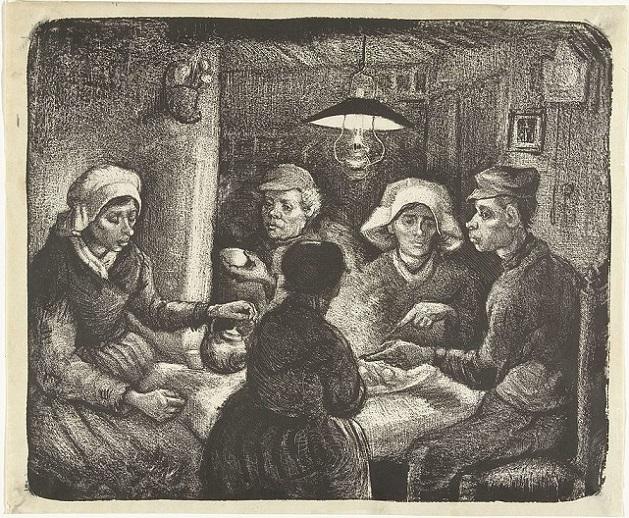 「ジャガイモを食べる人々」(1885年4月)フィンセント・ファン・ゴッホ