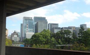 東京国立近代美術館2階からの眺め