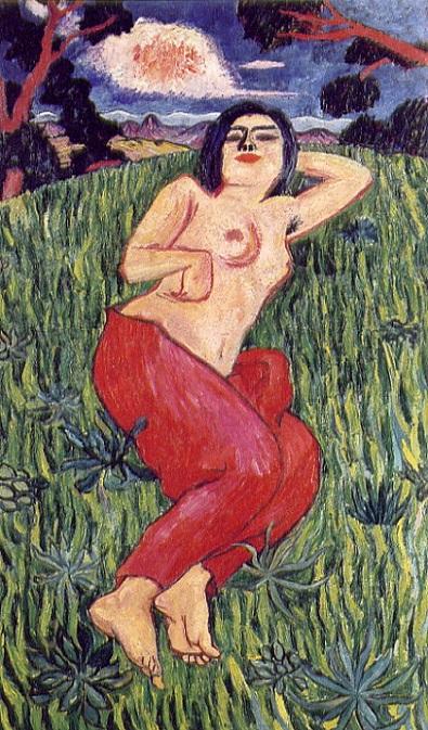 「裸体美人」(1912年)萬鉄五郎